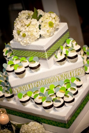 displaying wedding cake