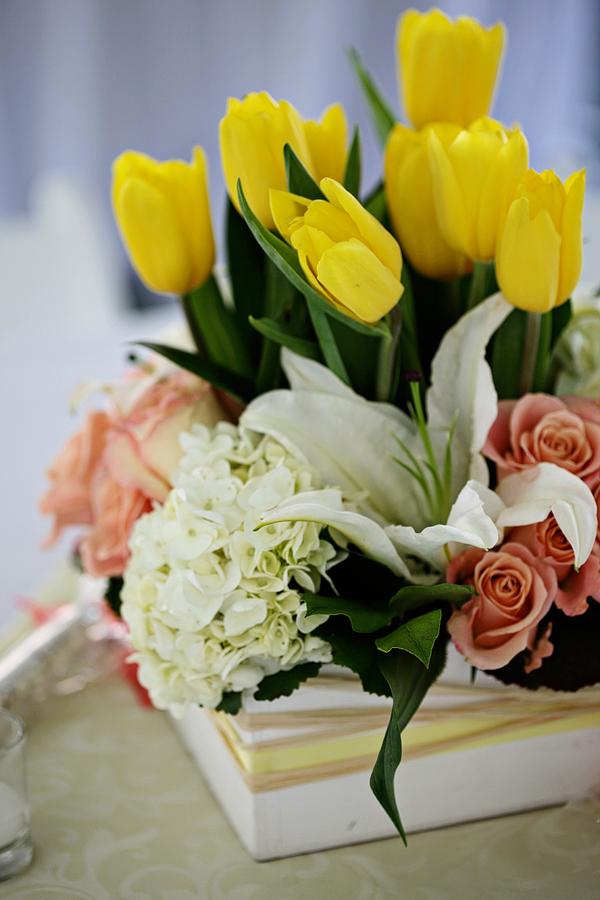 AK, spring flowers, pink, yellow, white