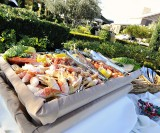 seafood display at an LDS reception, photo by Carly Daniel photography, WeddingLDS.info