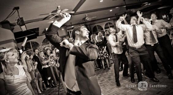 garter toss for LDS wedding receptions, Photo by Burnt Exposure Photography, WeddingLDS.com
