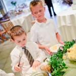 picky kids at a wedding buffet