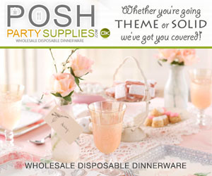 Posh Party Supplies, Pink
