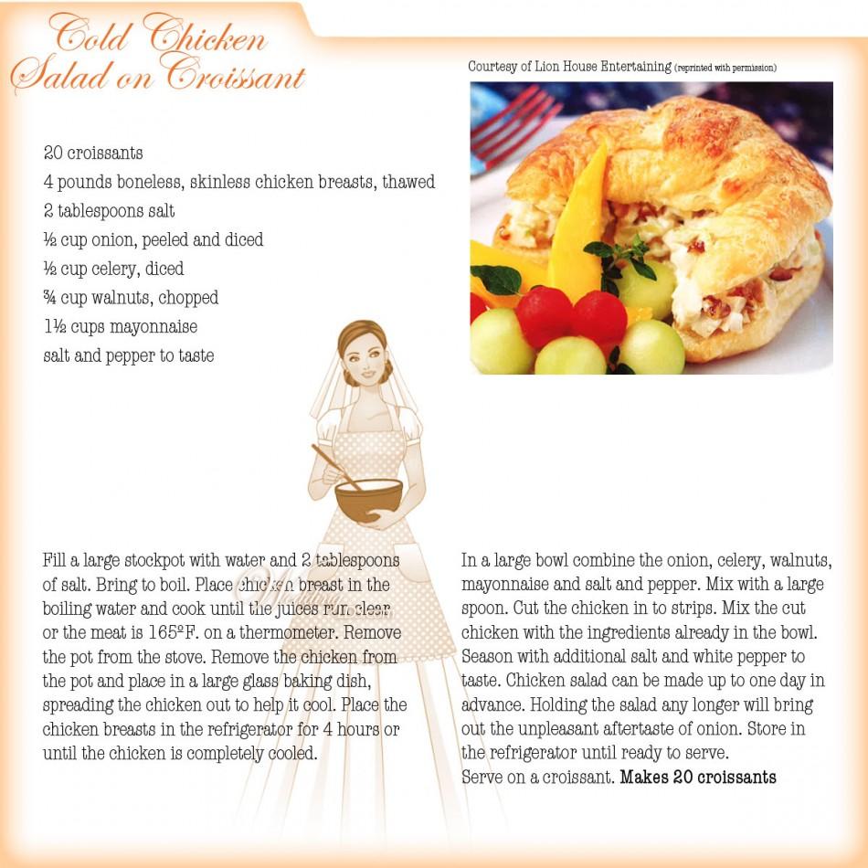 Cold Chicken Salad Croissant Sandwich Recipe Courtesy Of
