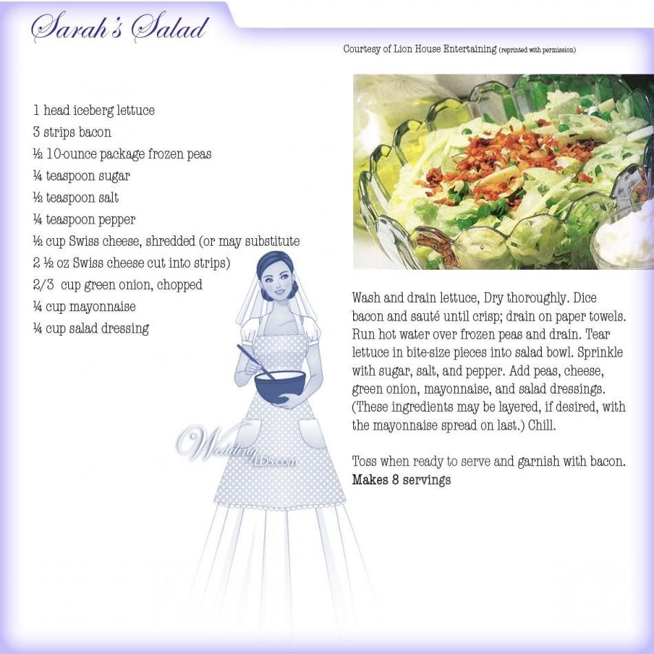 Sarah's Salad Recipe