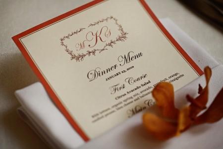 Caterer Dinner Menu, Carly Daniel Photography, Wedding LDS.info