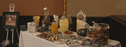 candy bar for LDS weddings, exquisite catering