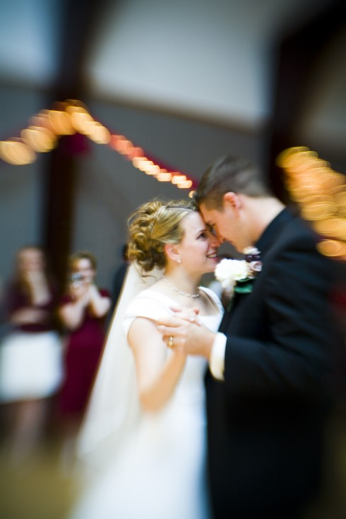 LDS bride's and groom's first dance