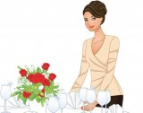 finding a wedding caterer for your LDS reception, illustration by Naoko art for WeddingLDS