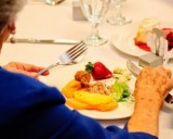 Catered food at an LDS Wedding Reception